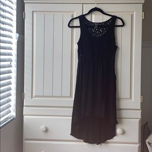 high-low black dress from wet seal!